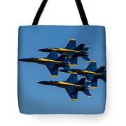 Blue Angel Diamond Tote Bag