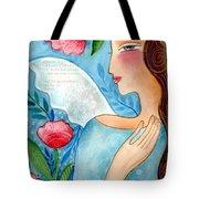 Blue  Angel Tote Bag by Elaine Jackson