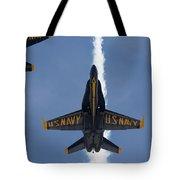 Blue Angels Overhead Break  Tote Bag