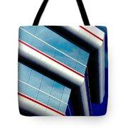 Blue Angled Tote Bag