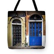 Blue Arch Door Tote Bag