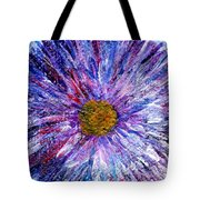 Blue Aster Miniature Painting Tote Bag