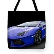 Blue Aventador Tote Bag