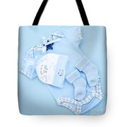 Blue Baby Clothes For Infant Boy Tote Bag