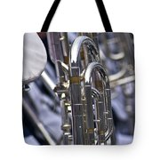 Blue Band Brass Tote Bag