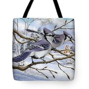 Blue Bandits Winter Afternoon Tote Bag