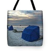 Blue Beach Chairs Tote Bag