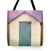 Blue Beach Hut Tote Bag