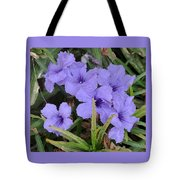 Blue Beauties Open To The Sun Tote Bag