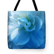 Blue Begonia Flower Tote Bag by Jennie Marie Schell