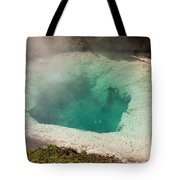 Blue Bell Pool In West Thumb Geyser Basin In Yellowstone National Park Tote Bag