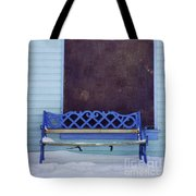 Blue Bench Tote Bag