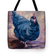 Blue Biddy Tote Bag
