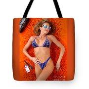 Blue Bikini 16-2p Tote Bag