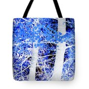 Blue Birch Trees Tote Bag