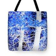 Blue Birch Trees Tote Bag