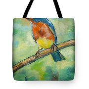 Blue Bird 2 Tote Bag