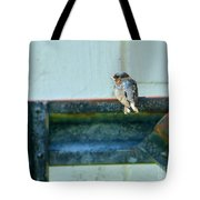 Blue Bird Side View Tote Bag
