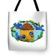 Blue Birds Fly Home Tote Bag