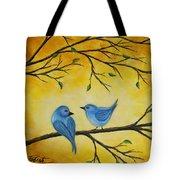 Blue Birds Tote Bag