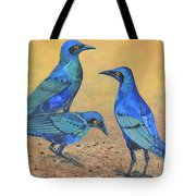 Blue Birds Of Happiness Tote Bag