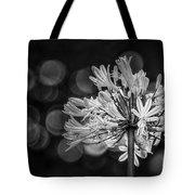 Blue Blooms B/w Tote Bag