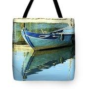 Blue Boat 01 Tote Bag