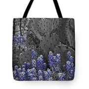 Blue Bonnet Cactus Tote Bag