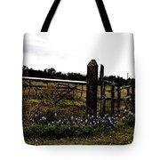 Blue Bonnet Fence V4 Tote Bag