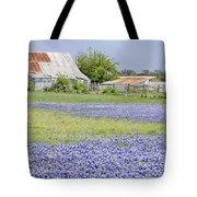 Blue Bonnets Barn V2 Tote Bag