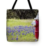 Blue Bonnets Fire Hydrant V2 Tote Bag