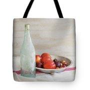 Blue Bottle And Fresh Fruit Tote Bag