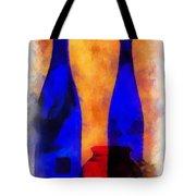 Blue Bottles Photo Art Tote Bag