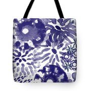 Blue Bouquet- Contemporary Abstract Floral Art Tote Bag