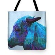 Blue Brahma Tote Bag
