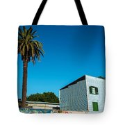 Blue Building In Historic Neighborhood Tote Bag