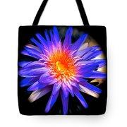 Blue Burst Lily Tote Bag