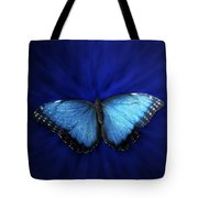 Blue Butterfly Ascending 02 Tote Bag