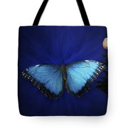 Blue Butterfly Ascending Tote Bag