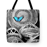 Blue Butterfly Charleston Tote Bag