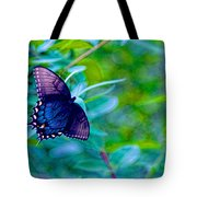 Blue Butterfly Fantasy Tote Bag