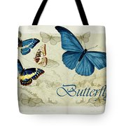 Blue Butterfly - S01a Tote Bag
