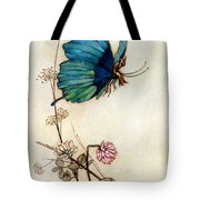 Blue Butterfly Tote Bag by Warwick Goble