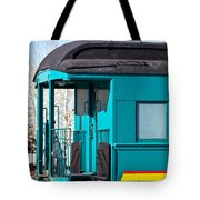 Blue Caboose Tote Bag