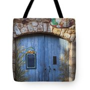 Blue Cafe Doors Tote Bag