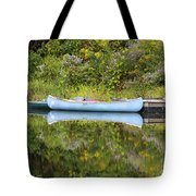 Blue Canoe Tote Bag