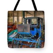 Blue Carriage Tote Bag