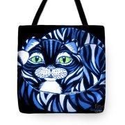 Blue Cat Green Eyes Tote Bag