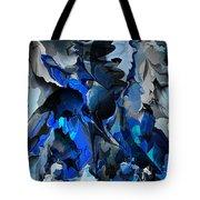Blue Chaos Tote Bag