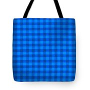 Blue Checkered Tablecloth Fabric Background Tote Bag